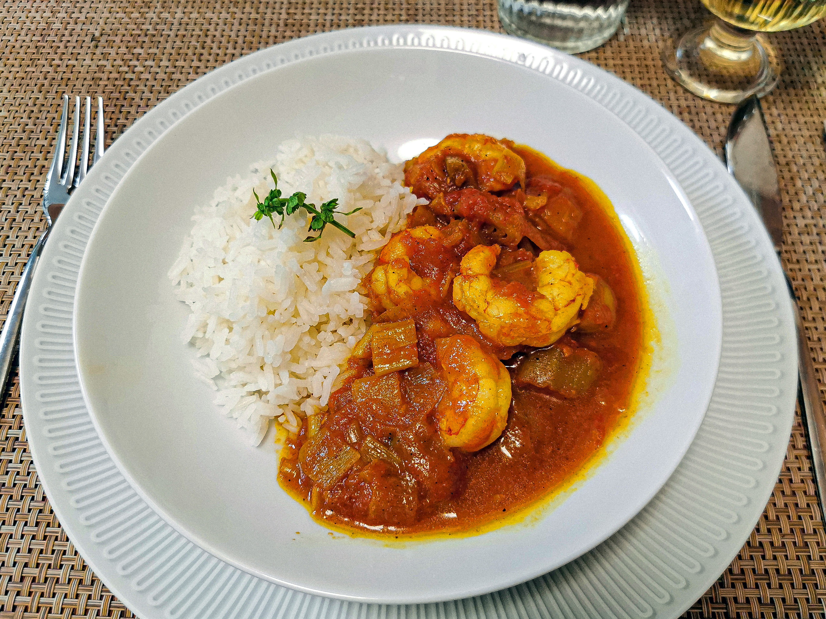 langostinos curry